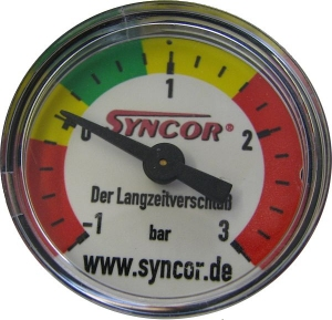SYNCOR internal pressure gauge